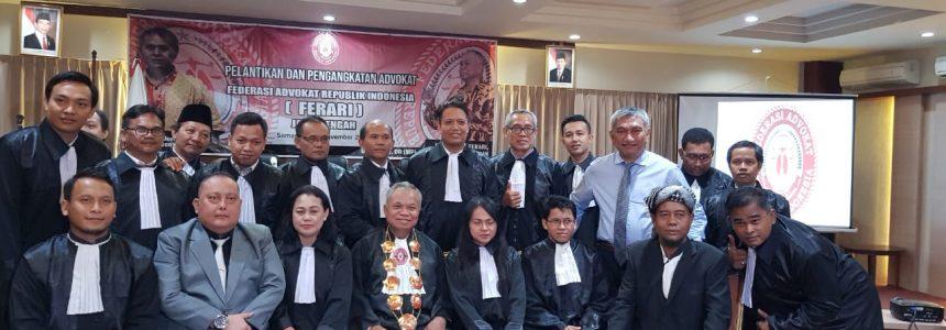 Foto: Pengangkatan dan Pelantikan Advokat FERARI Prov. Jawa Tengah (21/11/2018) Di Hotel Gracia Semarang