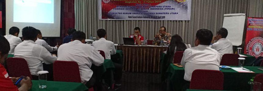 PKPA Ferari di Sumatera Utara Angkatan ke 2 di Hotel Grand Antares di bawakan Prof Dr Maidin Gultom Hukum. Acara Pidana